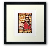 Women's Rights Are Human Rights Framed Print