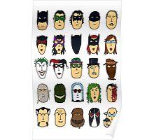 Batman Heroes & Villains Poster
