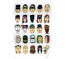 Batman Heroes & Villains Poster