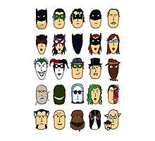 Batman Heroes & Villains Photographic Print