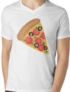 Pizza Pattern Mens V-Neck T-Shirt