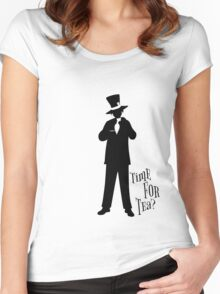 Time For Tea - Hatter Women's Fitted Scoop T-Shirt