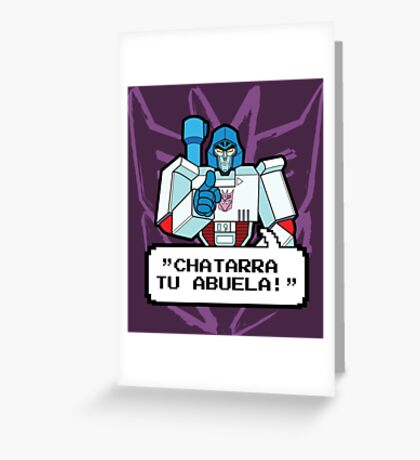 Megatron 2 Greeting Card