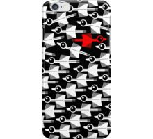 Migration Black and White Bird Pattern iPhone Case/Skin