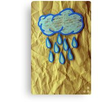 A Rainy Day is A Happy Day Canvas Print