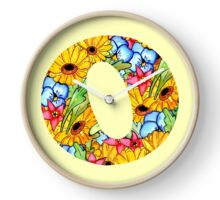 """Floral Letters """"O"""" Clock"""