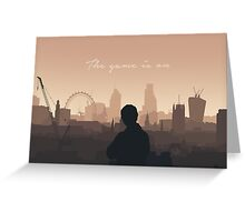 The Game Is On (John) Greeting Card