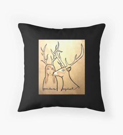 Deer to my Heart Throw Pillow