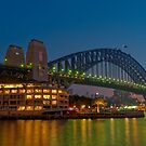 Sydney Harbour Bridge at dawn by Erik Schlogl