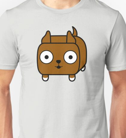 Pit Bull Loaf - Red Pitbull with Cropped Ears Unisex T-Shirt