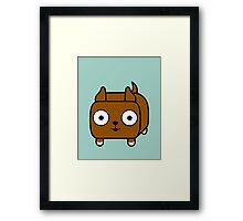 Pit Bull Loaf - Red Pitbull with Cropped Ears Framed Print