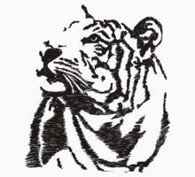 Tiger Sketch Kids Clothes
