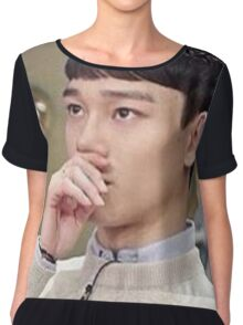 who knows what jongdae's roasting abt in his head Chiffon Top