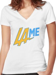 LAME Chargers Women's Fitted V-Neck T-Shirt