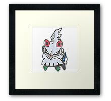Kawaii Silvally!! Framed Print