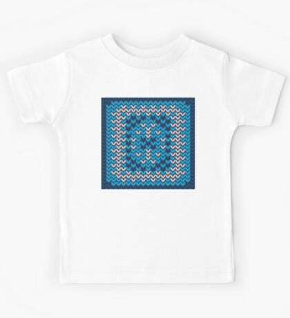 Knitted Decorative Background Kids Tee
