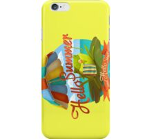Hello summer and hello sea! iPhone Case/Skin