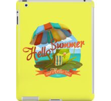 Hello summer and hello sea! iPad Case/Skin