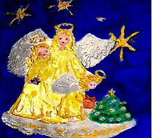 Angels and the Christmas Tree by innocentorigina