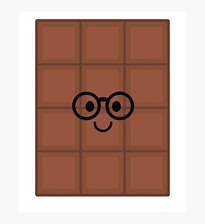 Chocolate Emoji Nerd Noob Glasses Photographic Print