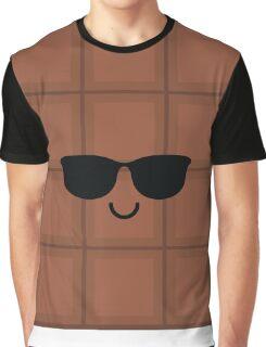 Chocolate Emoji Cool Sunglasses Graphic T-Shirt
