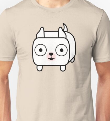 Pit Bull Loaf - White Pitbull with Cropped Ears Unisex T-Shirt