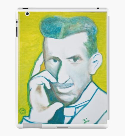 The Nikolai Tesla in green blue in oil painting! iPad Case/Skin