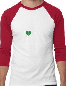 I Love My Hot Maldivan Girlfriend Men's Baseball ¾ T-Shirt