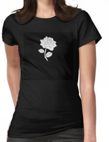 Black and White Rose (Shirts, cases) Womens Fitted T-Shirt