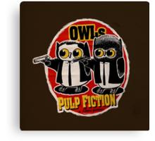 Owls Pulp Fiction Canvas Print