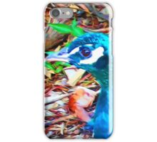 Surreal Blue Peacock iPhone Case/Skin