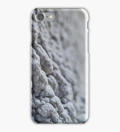 Salt crystals on a wall in a salt mine iPhone Case/Skin