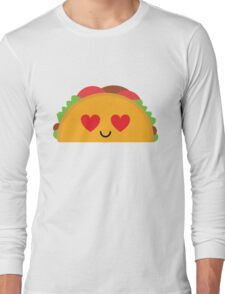 Taco Emoji Heart and Love Eye Long Sleeve T-Shirt