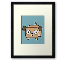 Pit Bull Loaf - Fawn Pitbull with Floppy Ears Framed Print