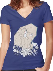 Girl's Diary Collection - Rain Women's Fitted V-Neck T-Shirt