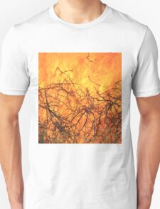 Yellow Flames - Wild Bush Fire Unisex T-Shirt