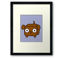 Pit Bull Loaf - Red Pitbull with Floppy Ears Framed Print