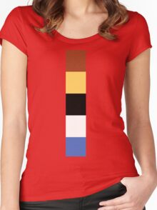 Woody Color Pallet Women's Fitted Scoop T-Shirt