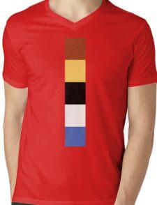 Woody Color Pallet Mens V-Neck T-Shirt