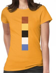 Woody Color Pallet Womens Fitted T-Shirt