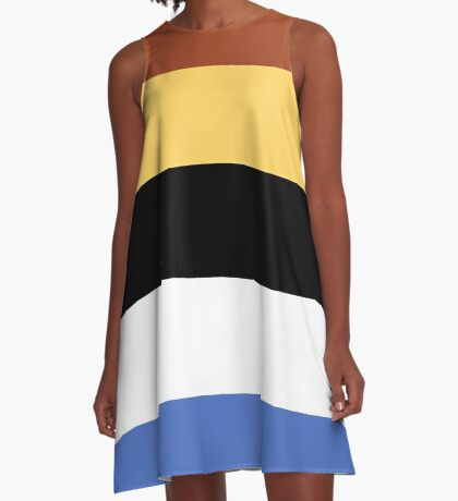 Woody Color Pallet A-Line Dress