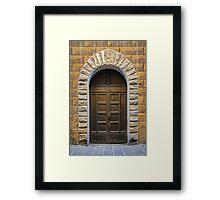 Studded Timber Double Doors Framed Print