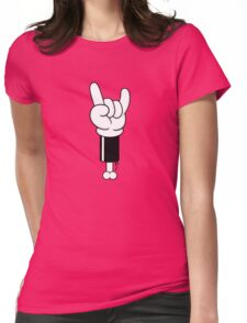 Toon Rock Womens Fitted T-Shirt