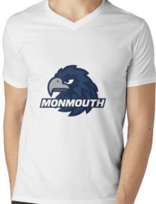 Monmouth University Blue Hawks Mens V-Neck T-Shirt