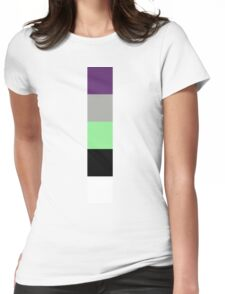 Buzz Color Pallet Womens Fitted T-Shirt