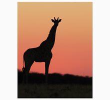 Giraffe Silhouette - Pink African Sunset T-Shirt