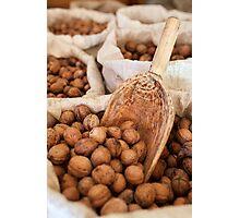 Sacks of walnuts Photographic Print
