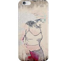 Beautiful halftone girl iPhone Case/Skin