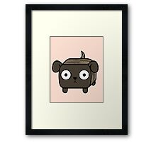 Pit Bull Loaf - Brindle Pitbull with Floppy Ears Framed Print