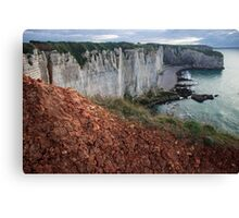 Red Soil on the Cliff - Travel Photography  Canvas Print